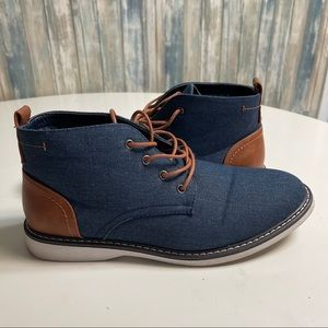 London Fog Chukka Boots sz 9.5 Chambray # box 58